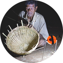 Man making baskets